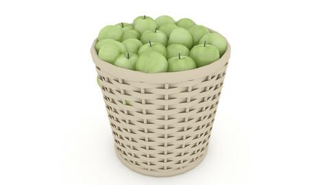 basket apple market sale 02 3D model
