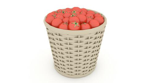 basket tomato market sale 3D