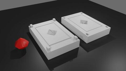 Mold for Dice 10 Sides Blank - Form - Molde para Dado - Printable