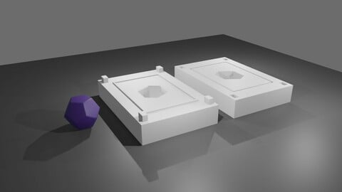 Mold for Dice 12 Sides Blank - Form - Molde para Dado - Printable