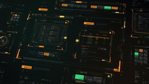 FUI / UI - Sci-fi windows and blocks vector set