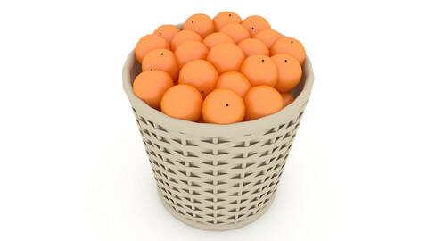 3D basket orange market sale