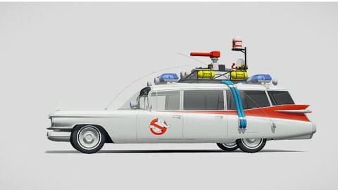 3D car Ghostbusters 1959 3D model