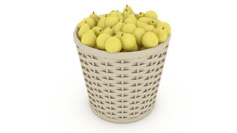 basket pear market sale 3D