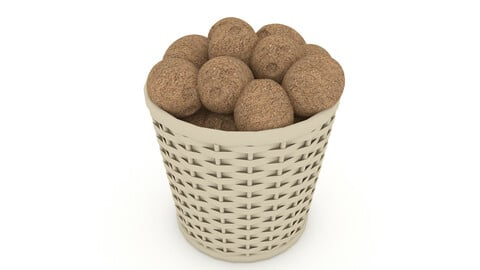 basket potato market sale 3D model