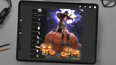 Halloween Brushes for Procreate