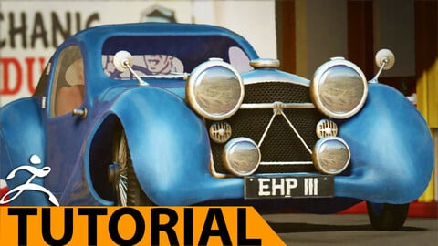 Making a vintage car with ZBrush