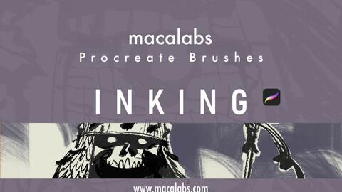 Macalabs_Inking. Procreate BrushPack