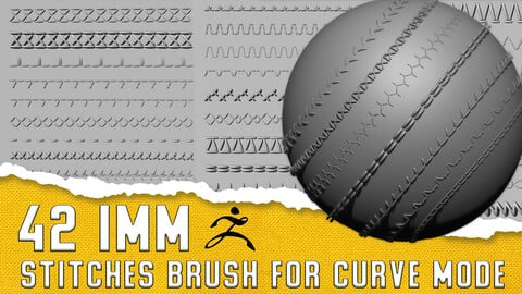 42 IMM Stitch brush pack for Curve mode