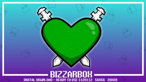 Twitch Emote: Mod Love Swords Heart