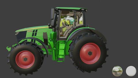 High quality realistic 3d model of JohnDeere 6R Series 3D model