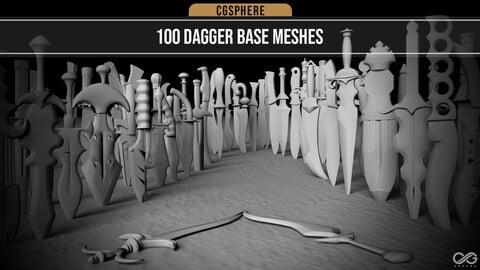 100 Dagger Base Meshes