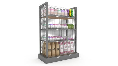 cosmetic product market stand 04