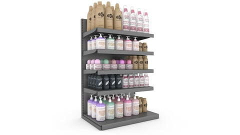 cosmetic product market stand 07