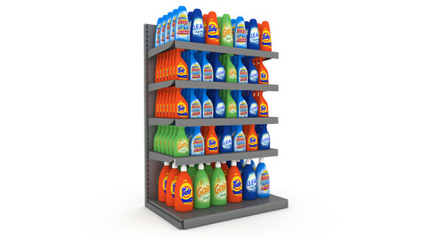cleaning product market stand 06