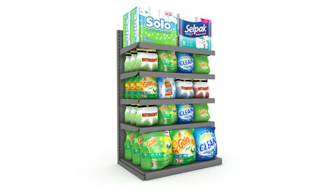 cleaning product market stand 08