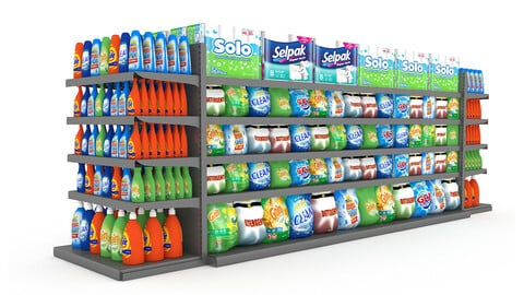 model cleaning product market stand 10