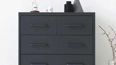 PIDOR cabinet chest of drawers 4 compartments