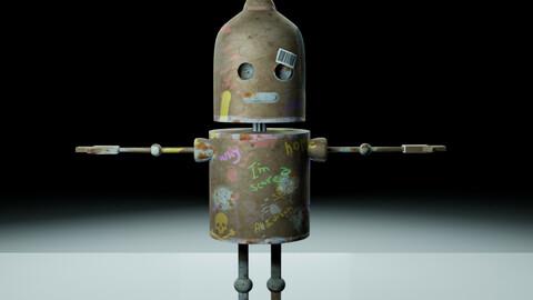 The Sad Robot   blender hard surface