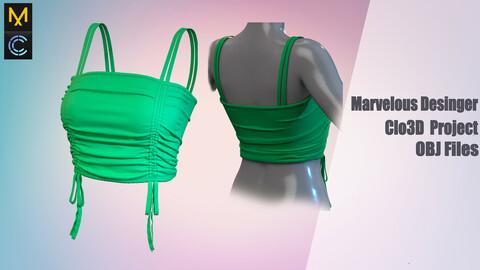 Top for a girl / Marvelous Desinger/Clo3D Project+OBJ File+ FBX