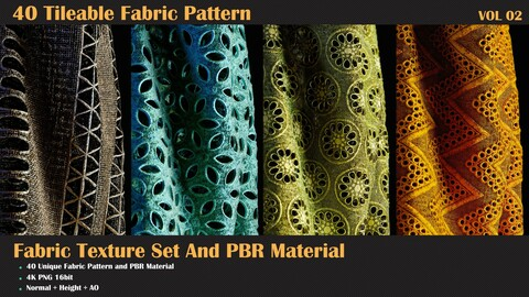 40 Tileable Fabric Pattern - VOL 02