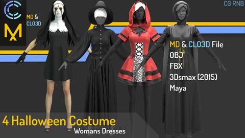 4 Halloween costume dresses