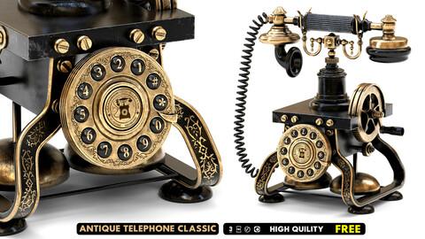 Antique Telephone Classic Rotating Dial Mechanical Ringtone Home Phone-Free