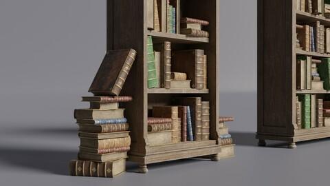 Medieval library - Bookshelf
