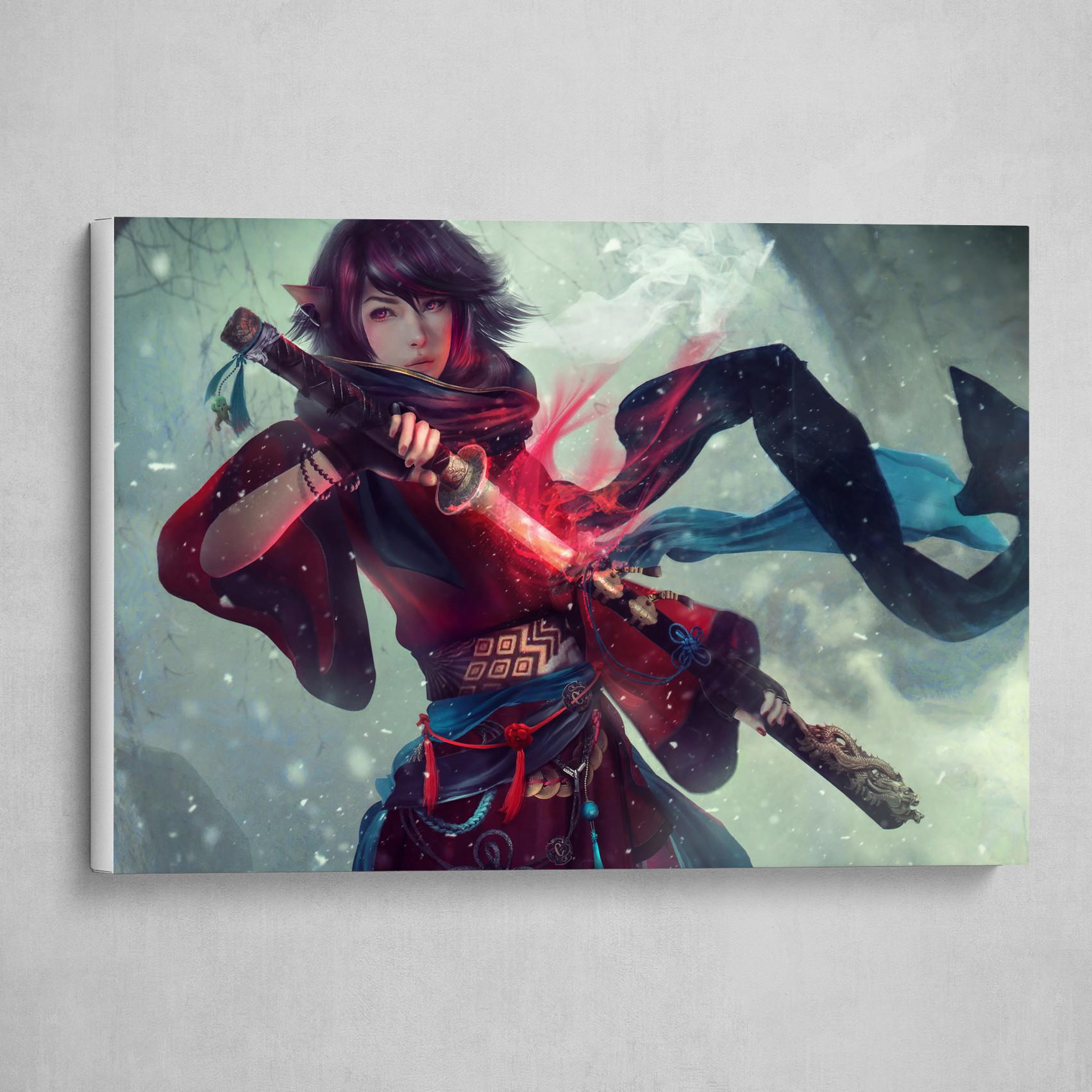 Elezen Samurai Girl, Final Fantasy