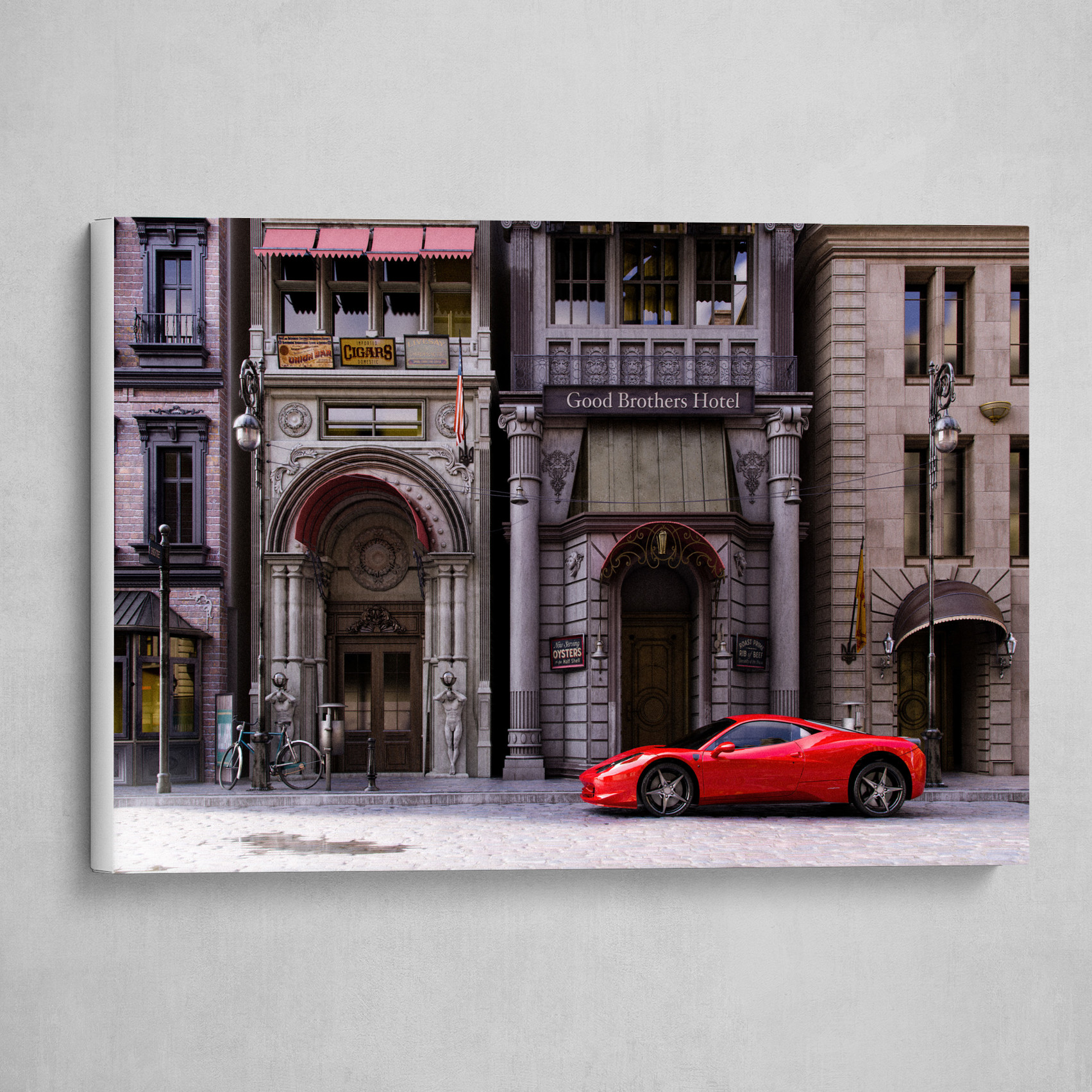 Red Car on a Side Street
