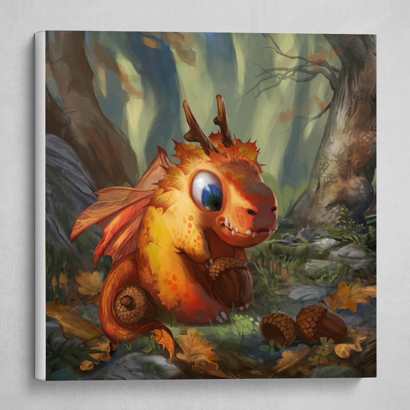 Autumn Forest Dragon Baby Creature