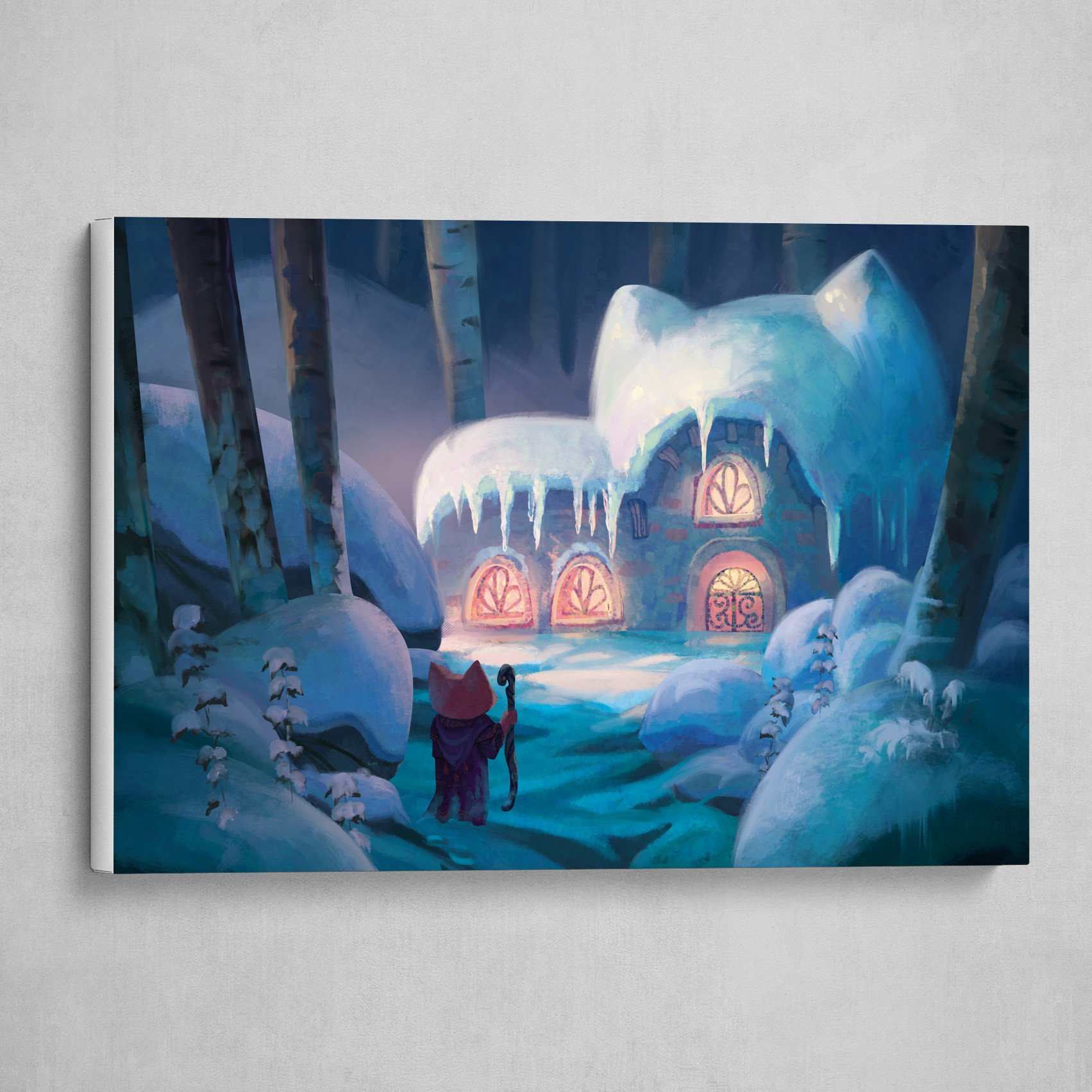 Coming Home - Cute, Magical Snowy Winter Forest Hut