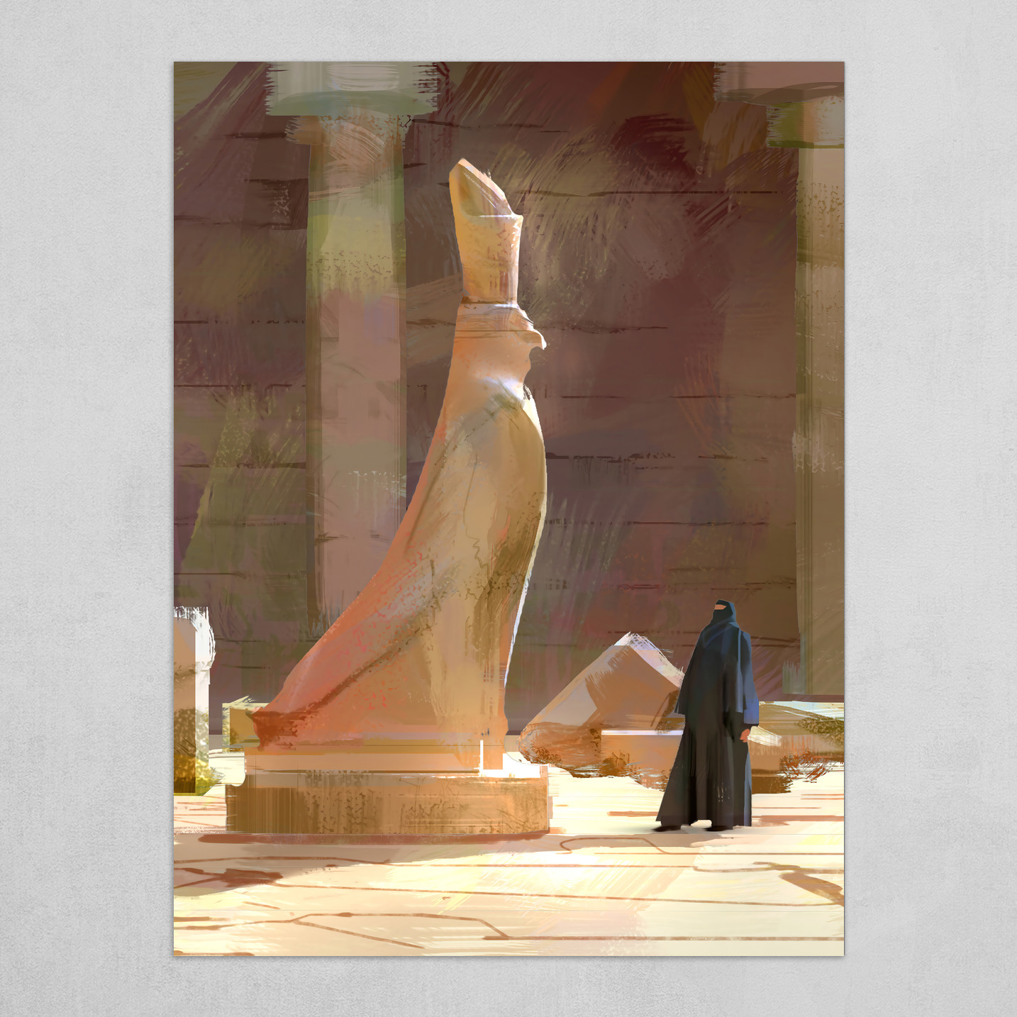 Egyptian statue study