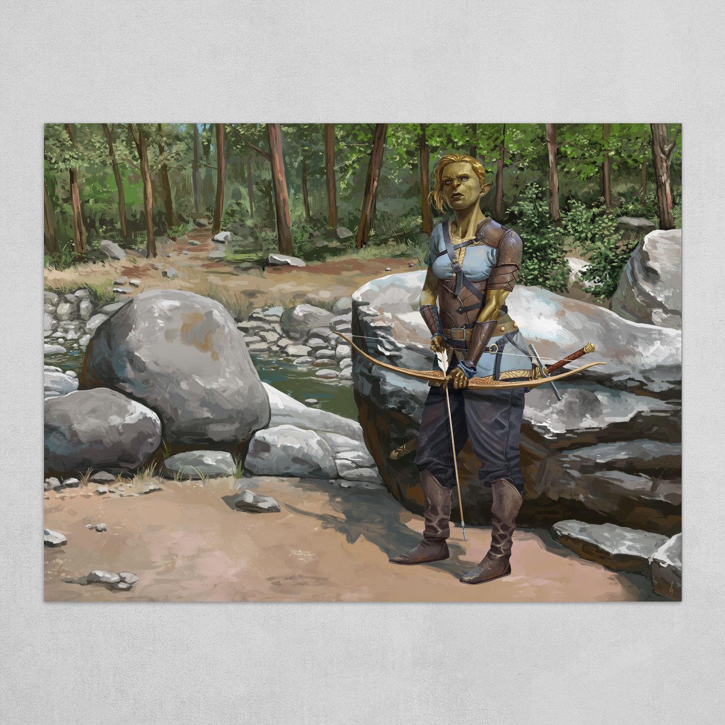 Archer by the river