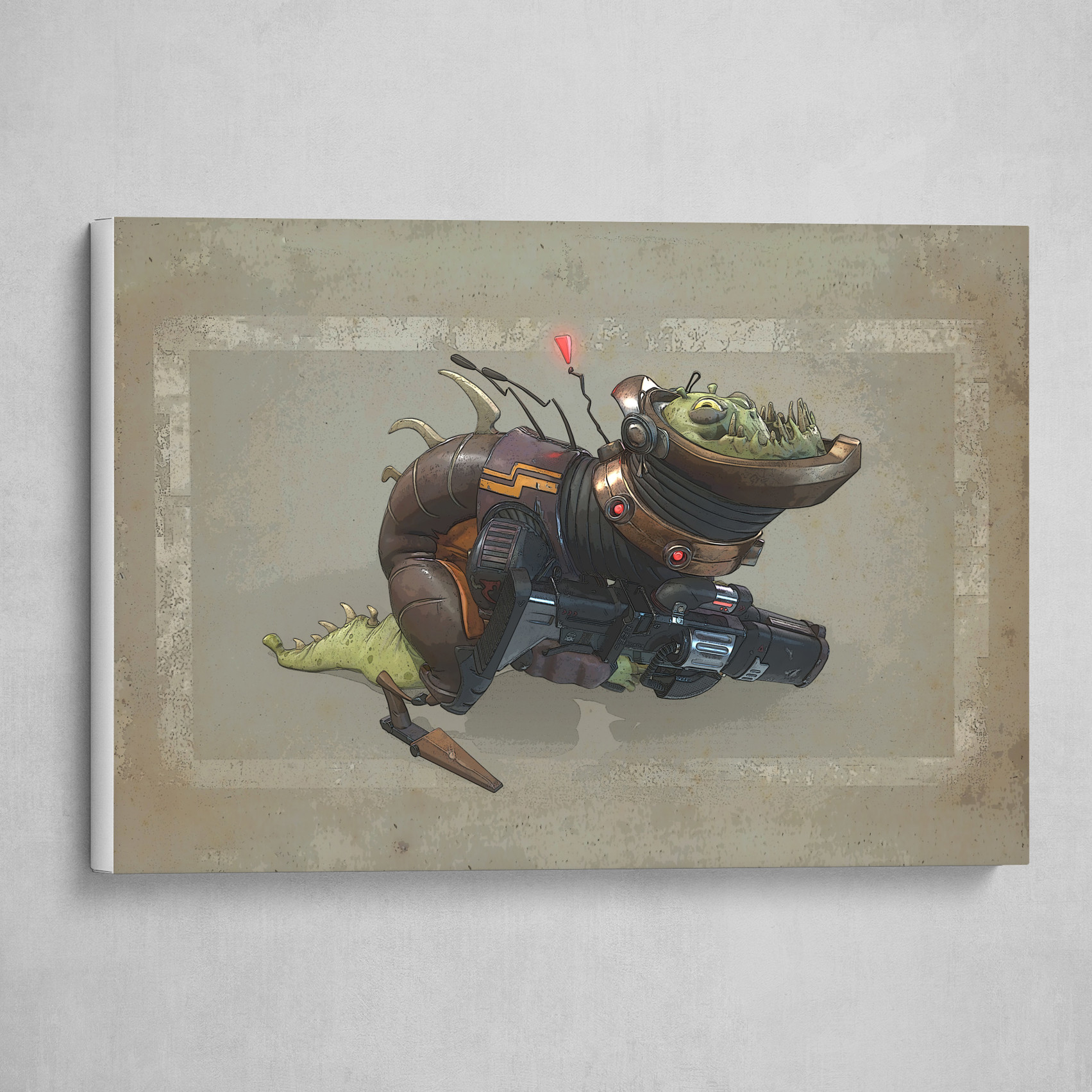 Stylized Sci-Fi Lizard Creature (with gun)
