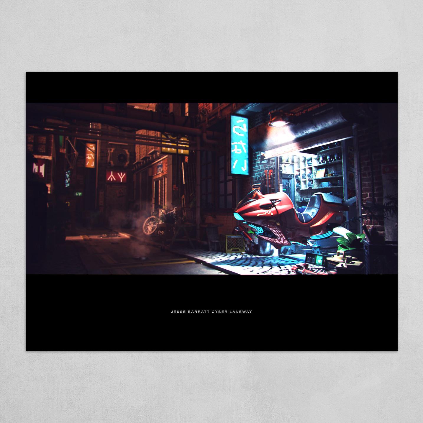 Cyber Laneway Filmic Print
