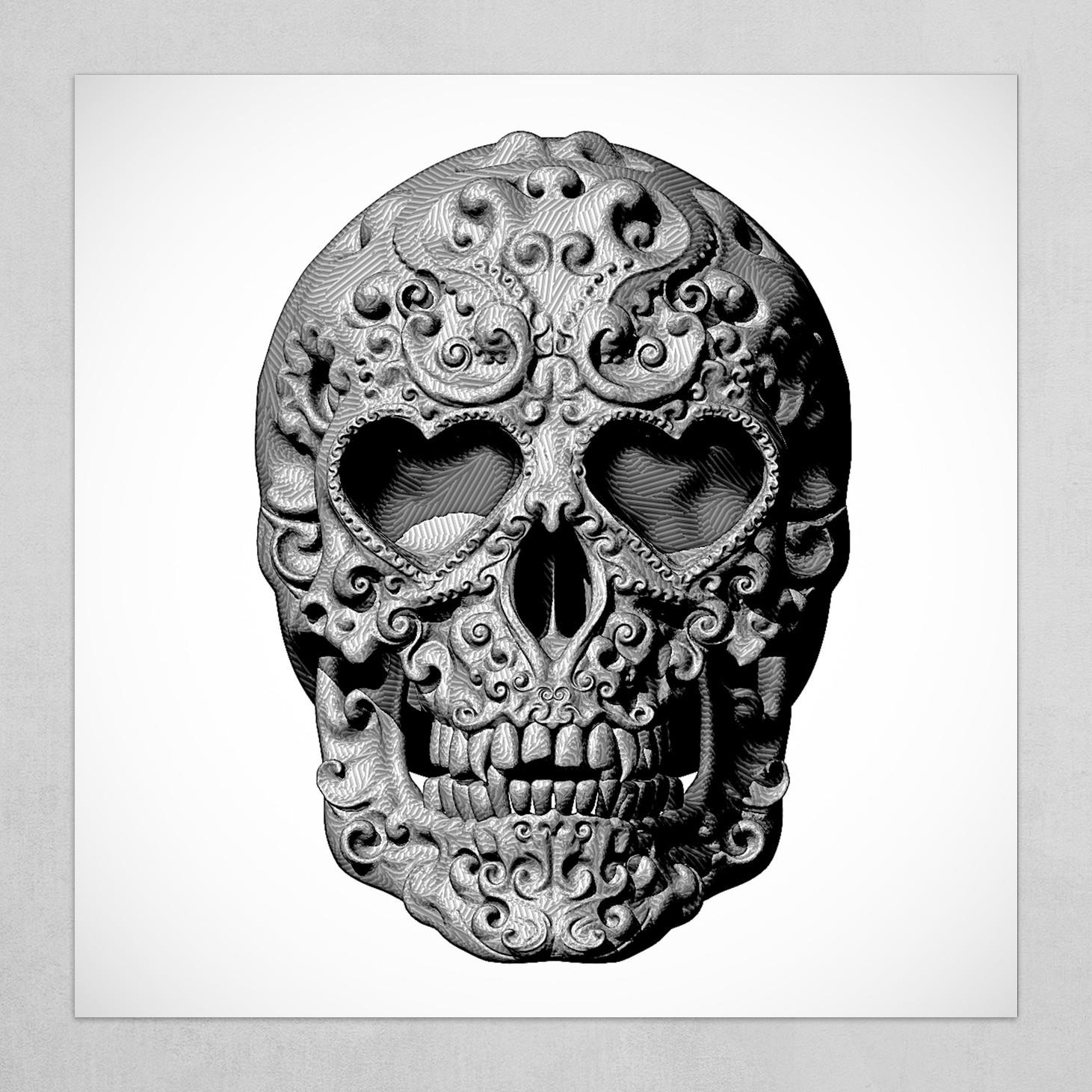 Mexican Skull Calavera Day of the dead themed - no signature