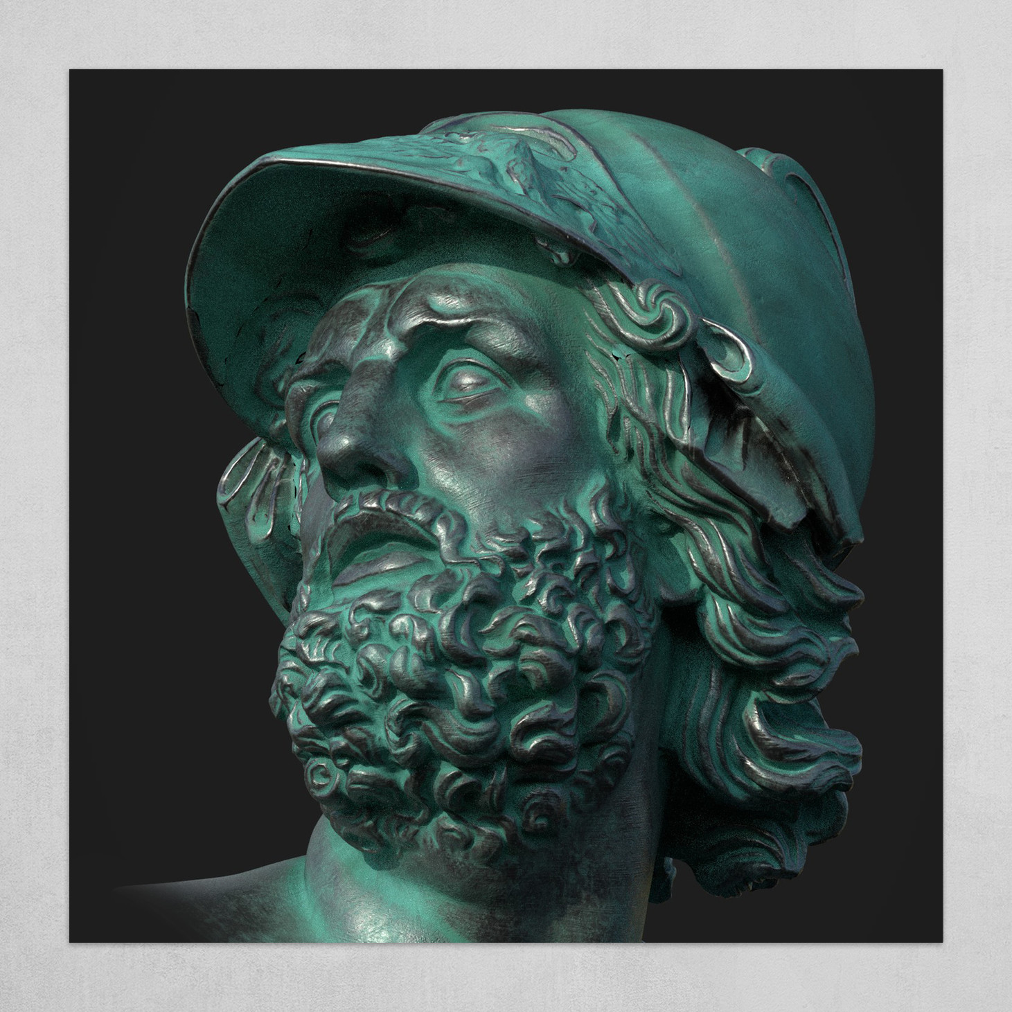 Bust of Menelau green version