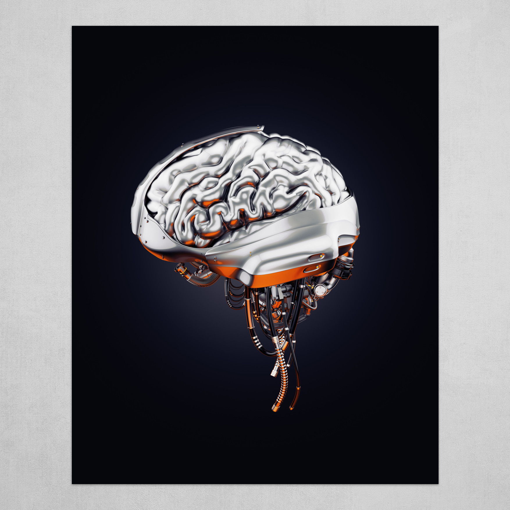 Steel robotic brain