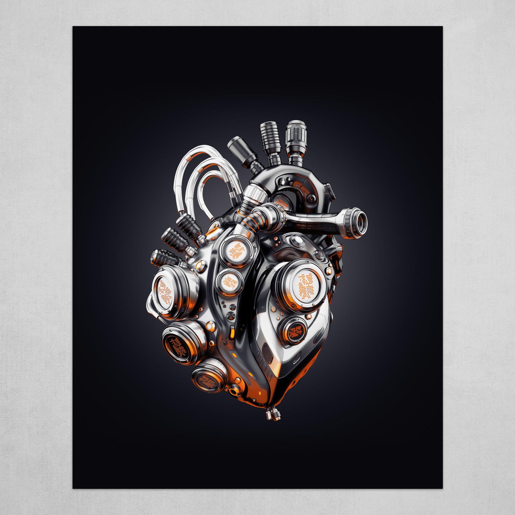 Steel robotic heart