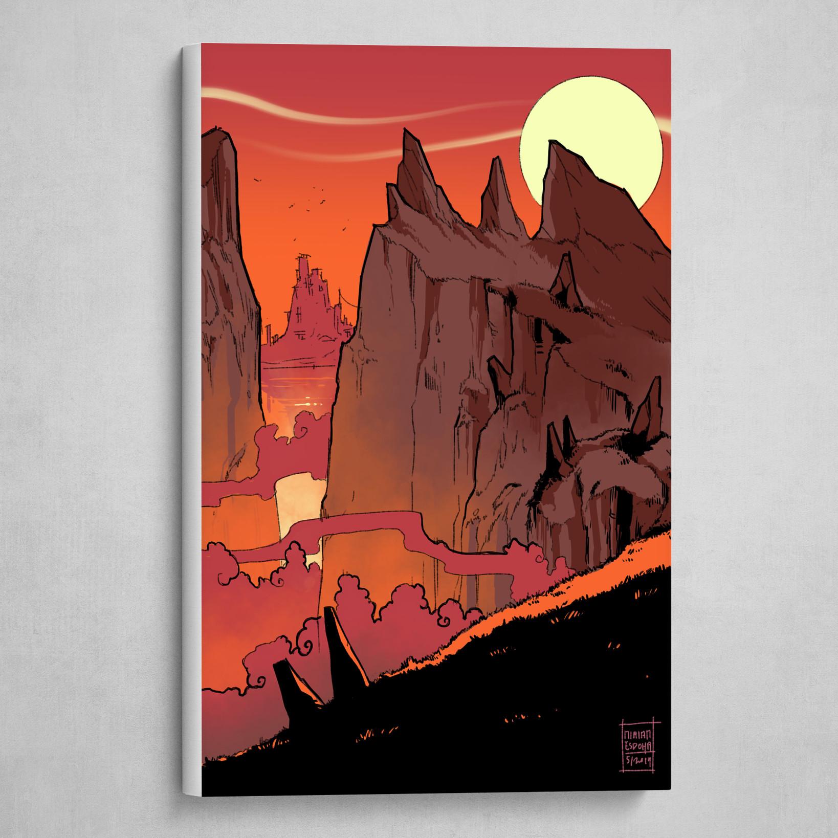 Rocky red cliffs