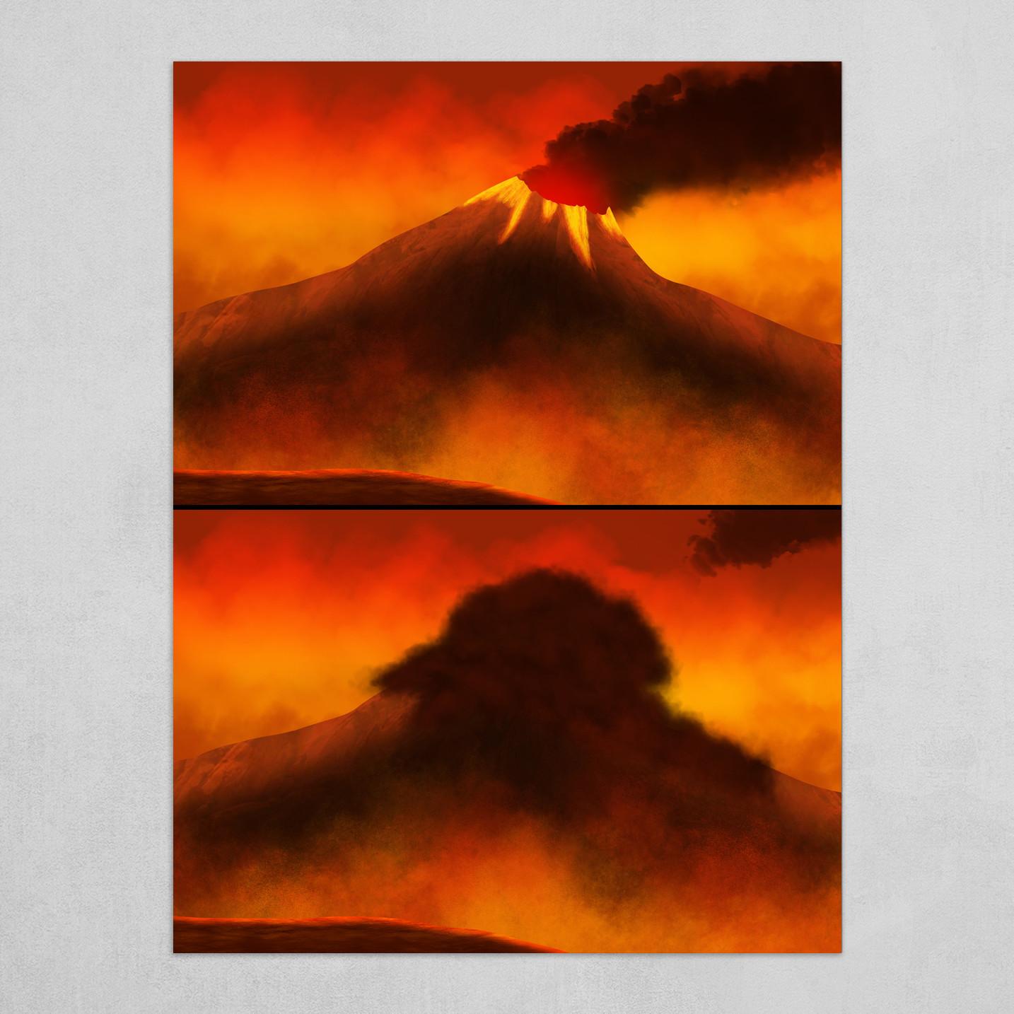 Artstation Erupting Volcano Art Print