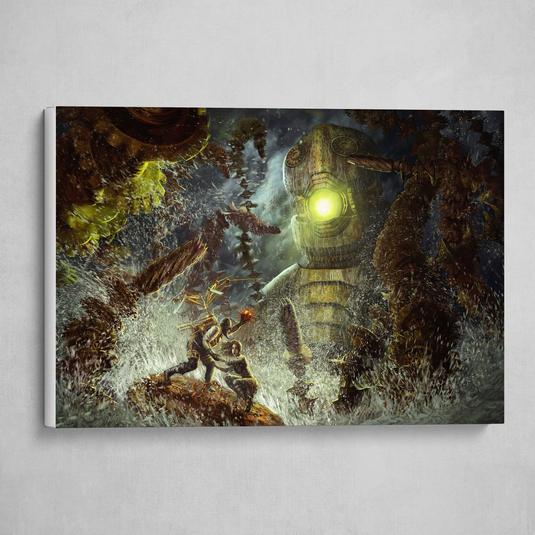 Steampunk Perseus Faces the Kraken