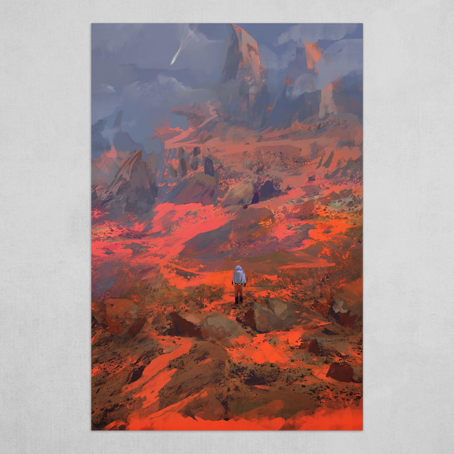 Red badlands