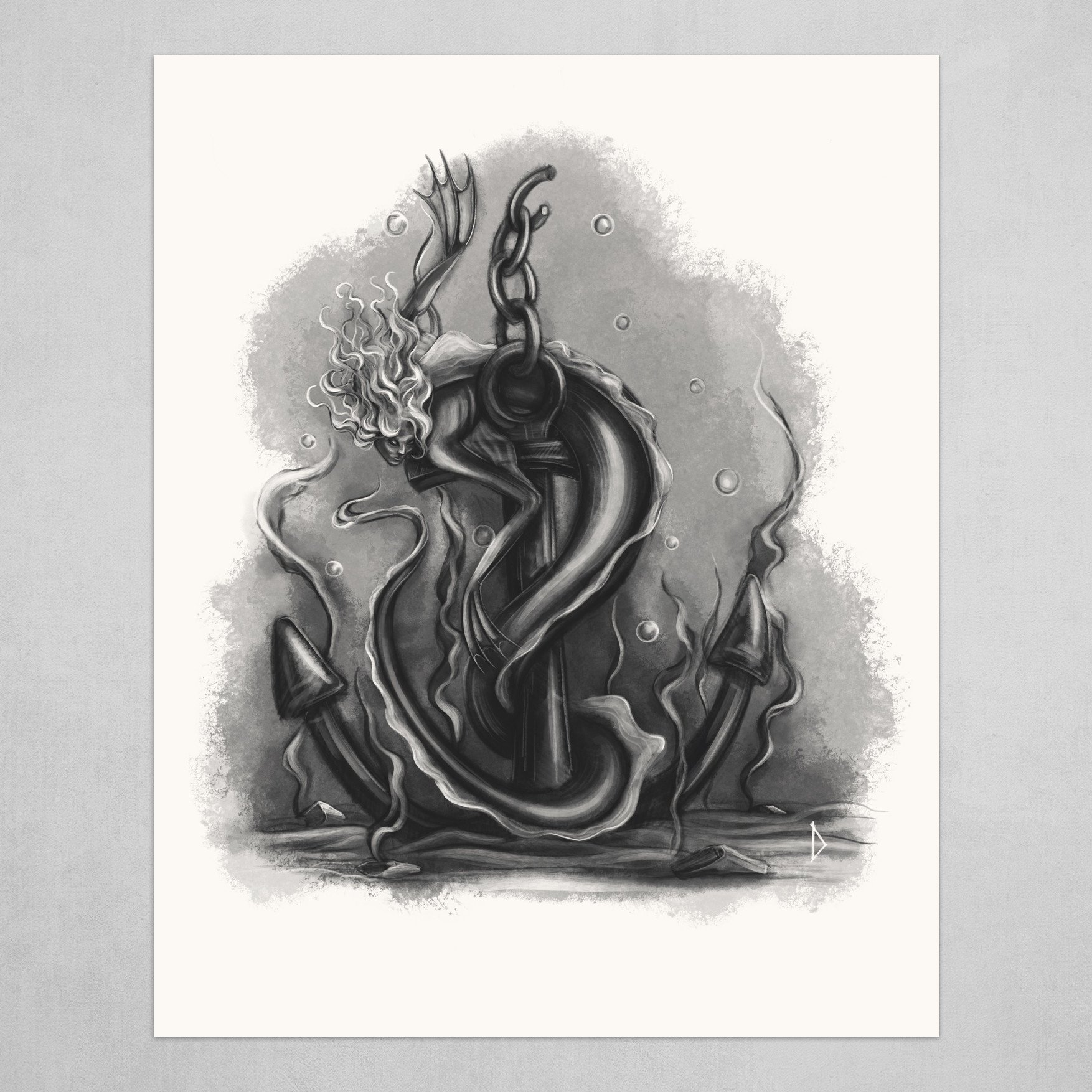 Mermaid with anchor