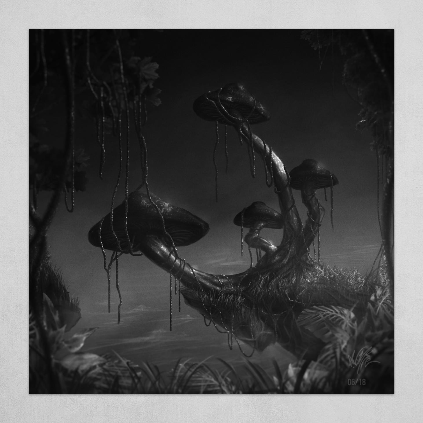 Datamush 1 Greyscale Art Poster By Aaron Walker