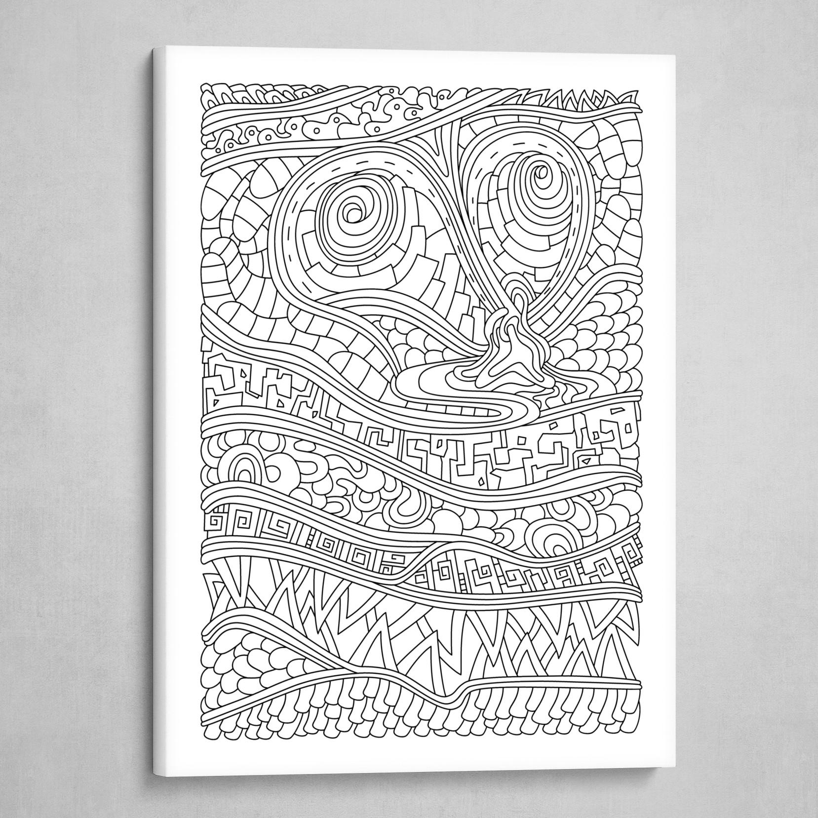 Wandering 03: black & white line art