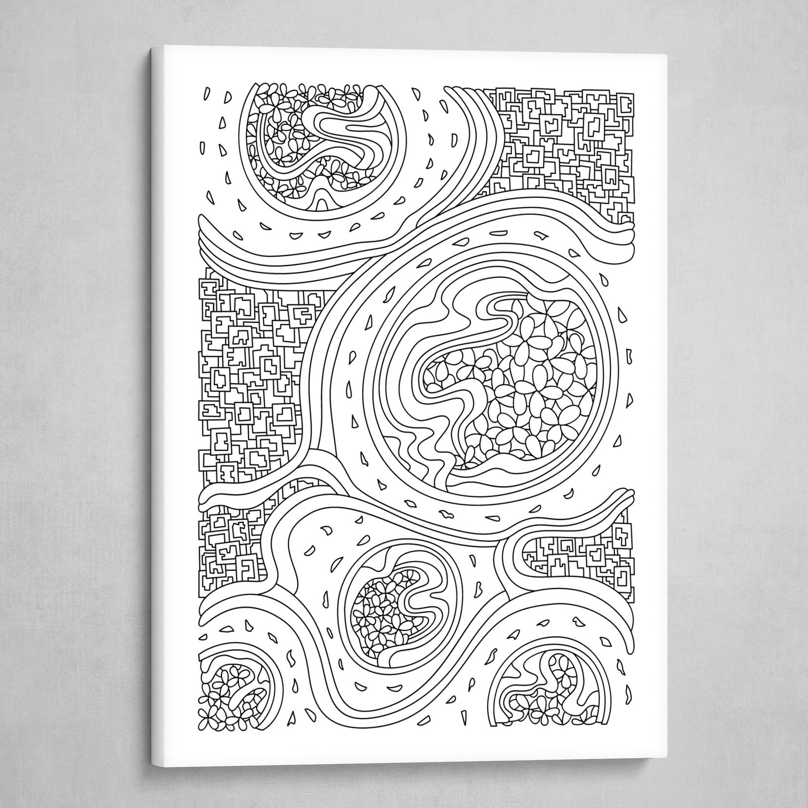 Wandering 06: black & white line art