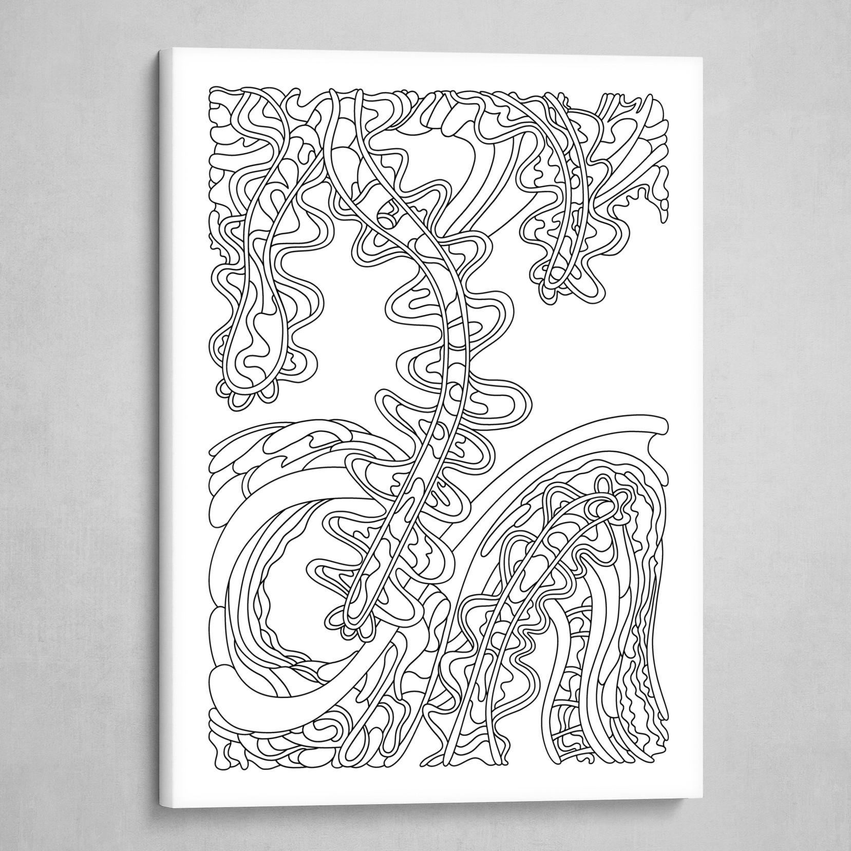 Wandering 07: black & white line art