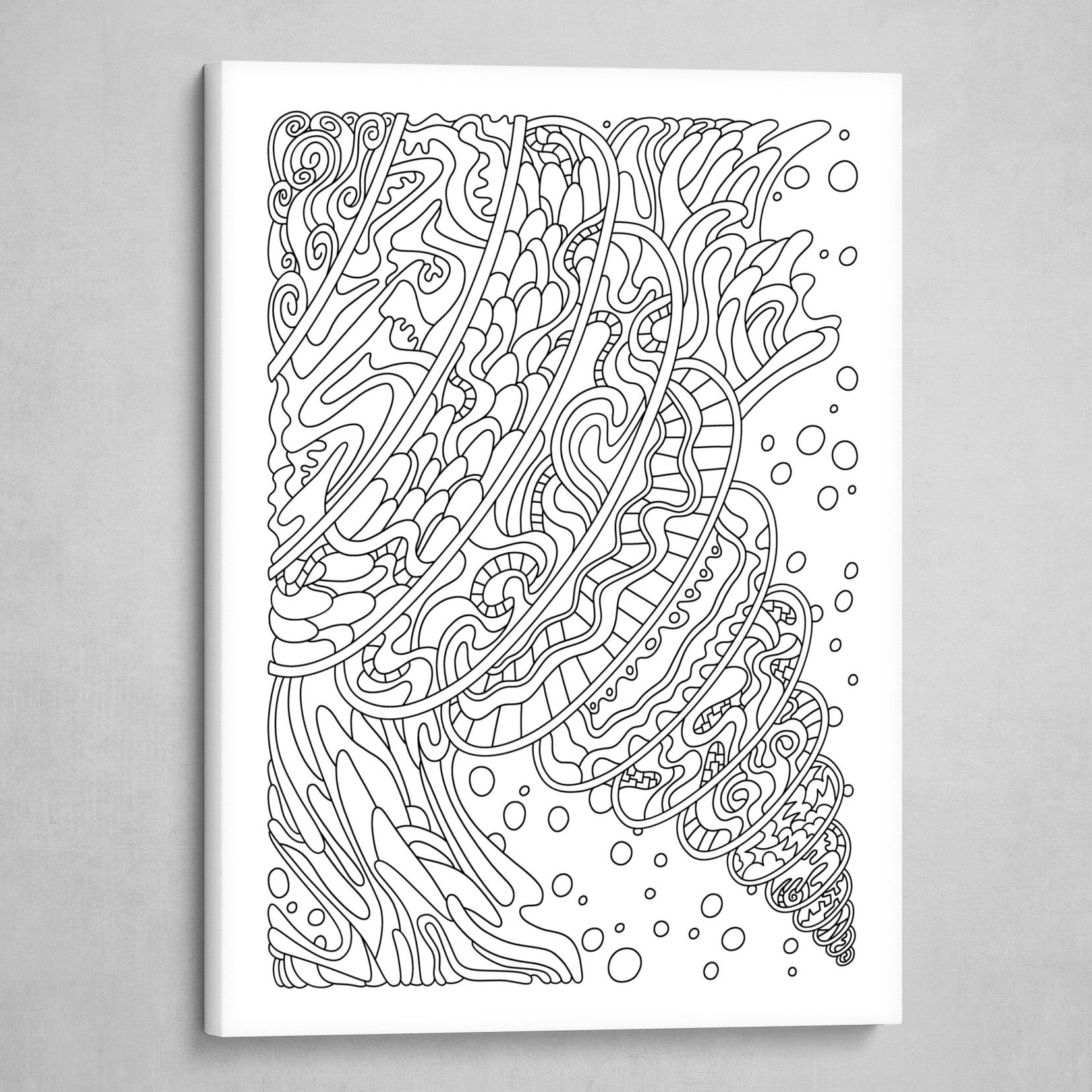 Wandering 11: black & white line art